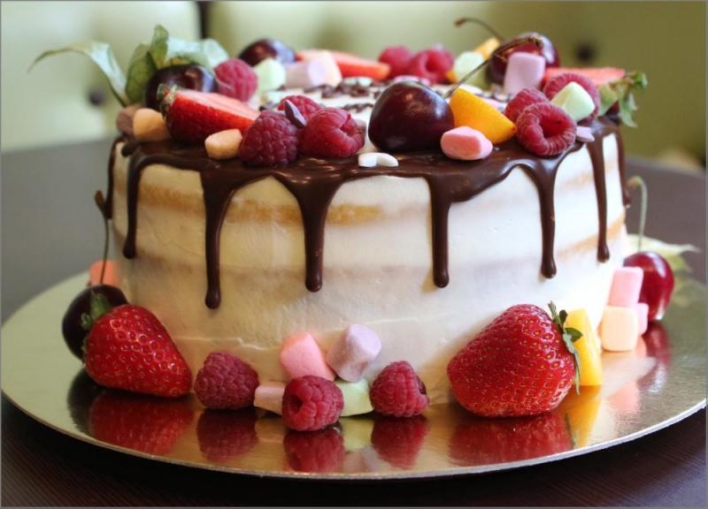 Открытки картинки с тортами на день рождения