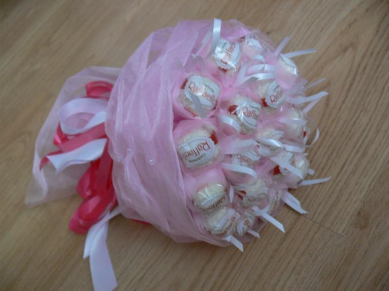 Букет из конфет своими руками из рафаэлло мастер класс