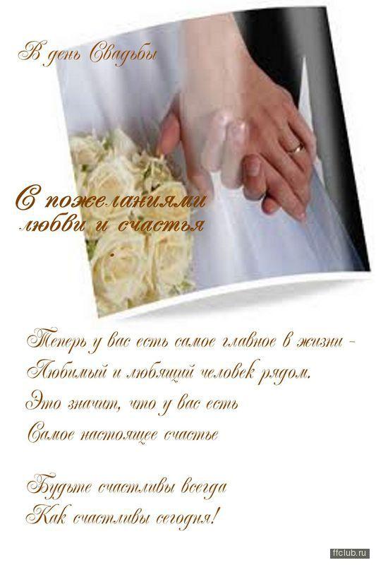Поздравление от родителей в день свадьбы проза