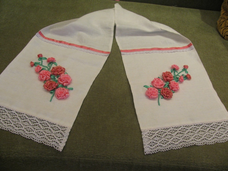 Вышивка лентами к свадьбе