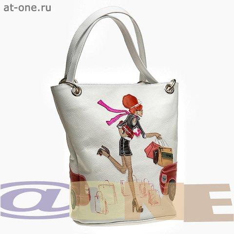 Женская сумка Девушка у лимузина.