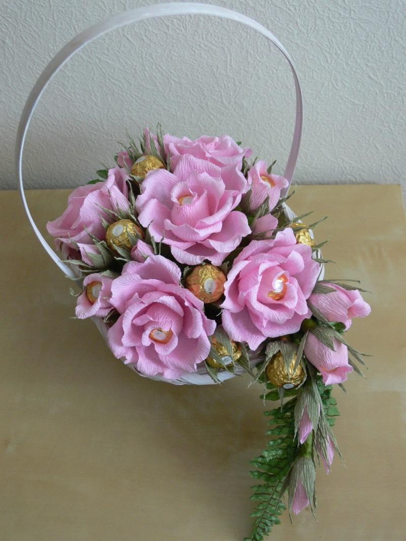 Букеты из конфет своими руками розы фото