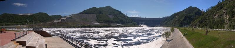 Саяно-Шушенская ГЭС. Енисей. Со смотровой площадки