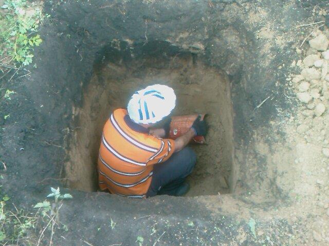 Писают в выгребную яму