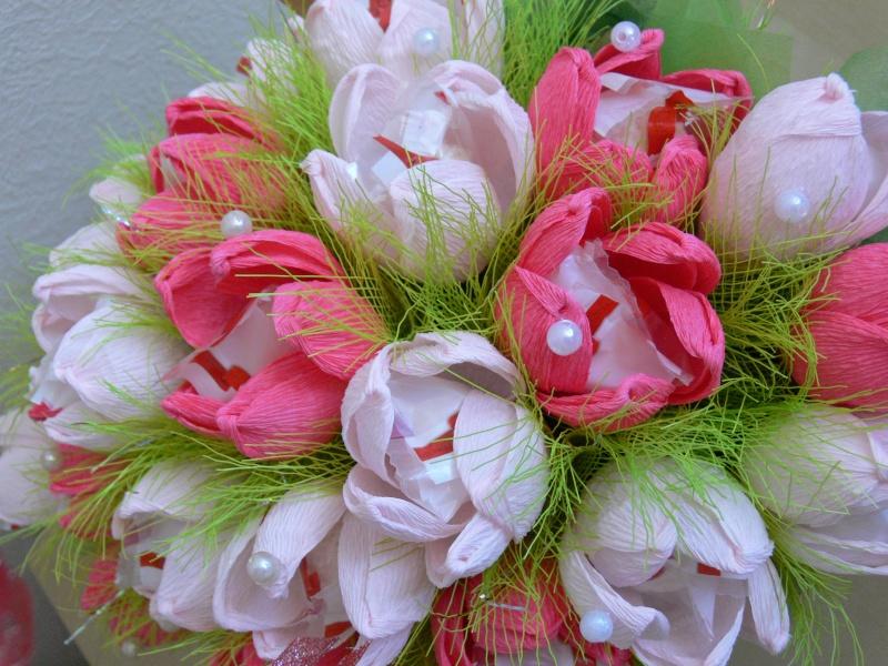 Букеты из конфет своими рукам тюльпаны