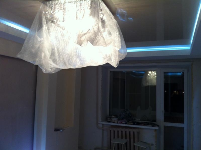Размещаем светодиодную подсветку на гардине