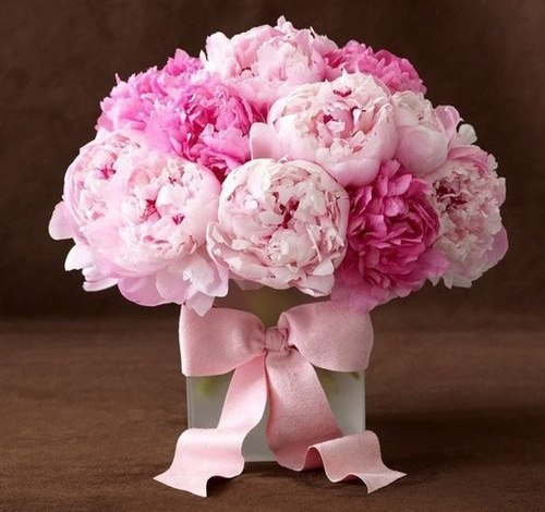 С днём рождения цветы пионы