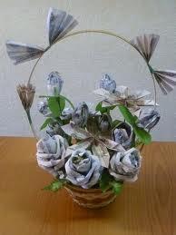 Цветы из денежных купюр своими руками мастер