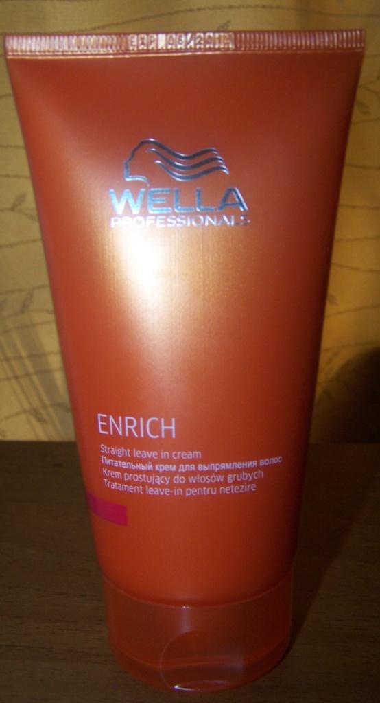Wella питательный крем для выпрямления волос