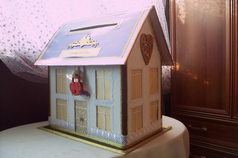 Сундучок на свадьбу в виде домика своими руками