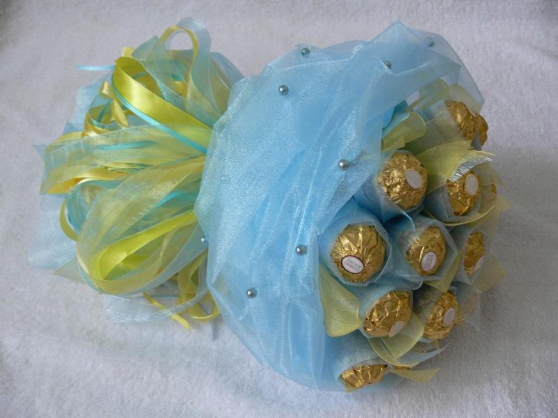 Букет из конфет и органзы своими руками пошаговое фото