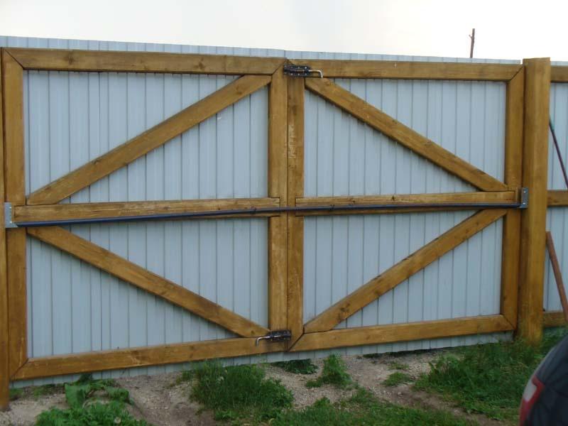 Как сделать каркас деревянных ворот