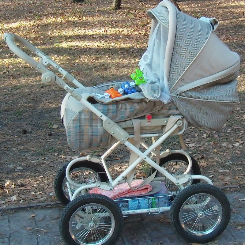 Фото сумка люлька недорого - Продам коляску-трансформер Geoby 3500 руб.