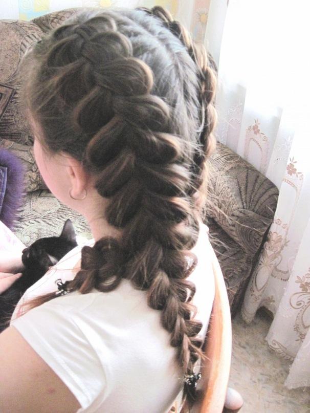 объемные две косы фото