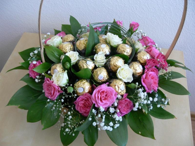 Букет конфет из цветов