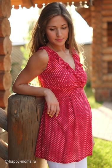 Фото туники летние для беременных