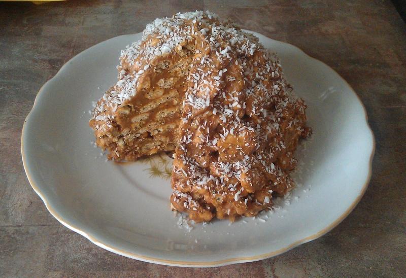 Как сделать пирог из печенья