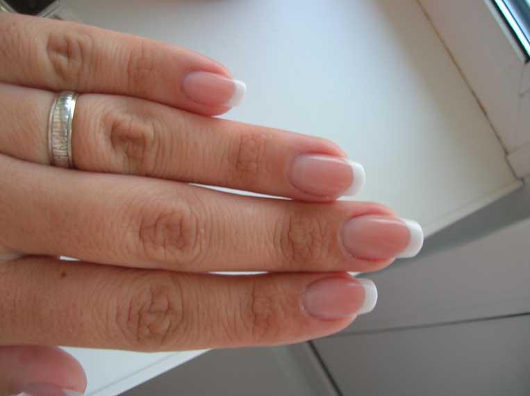 Ногти френч нарощенные двойка