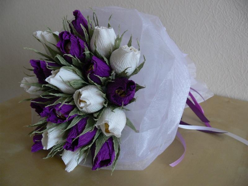 Сладкие букеты тюльпаны мастер класс из органзы пошаговое фото