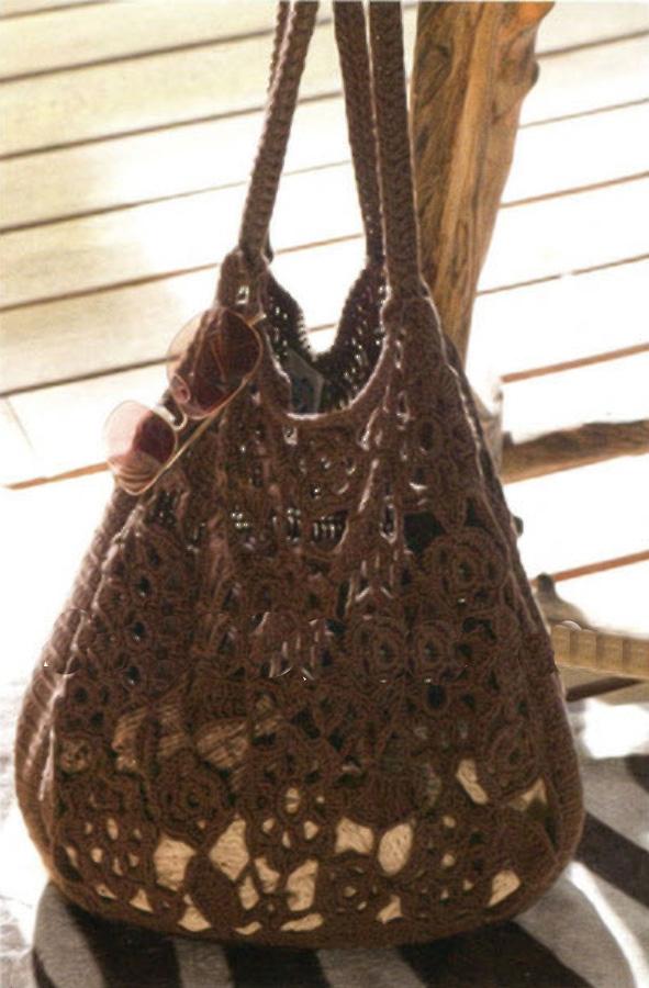 Схема летней сумки крючком.