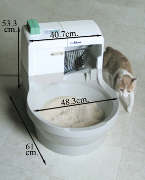 Автоматический туалет для котов облегчит жизнь их хозяевам