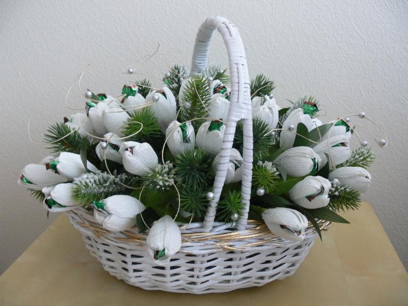 Новогодний букеты из конфет своими руками пошаговое фото