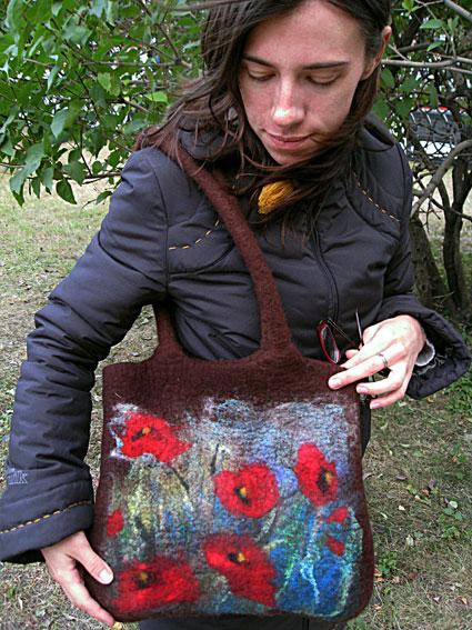 сумка валяние из шерсти - Сумки.