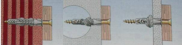 Дюбель распорный нейлоновый для пазогребневых плит