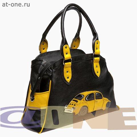 Сумка женская Машина-Жук, желтый.