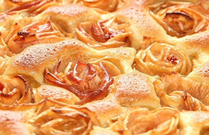 Как сделать розочку из яблок выпечка