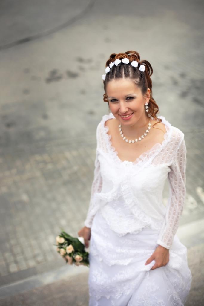 Фото невесты без фаты