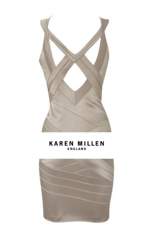 Ткань: Атлас.  Таблица размеров для платьев Karen Millen.