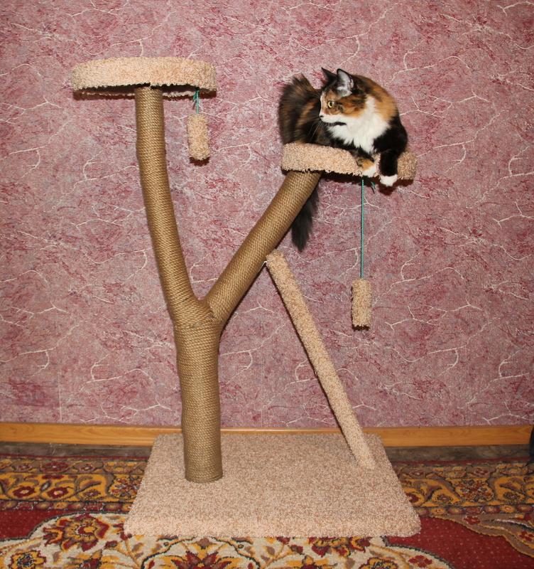 Когтеточка из дерева своими руками для кошки 120