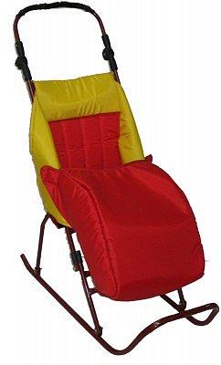 складные санки-коляска с конвертом для ног.