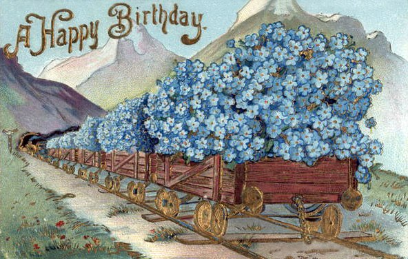 Винтажные открытки поздравления с днем рождения