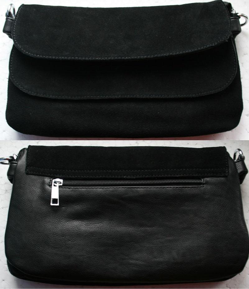 Новая замшевая сумочка-клатч.