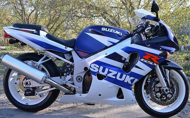 Угнан синий спортивный мотоцикл - suzuki gsx r600 2002г