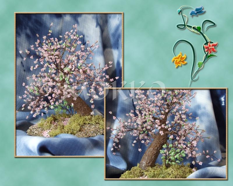 цветок сакуры из бисера - Это бисер!