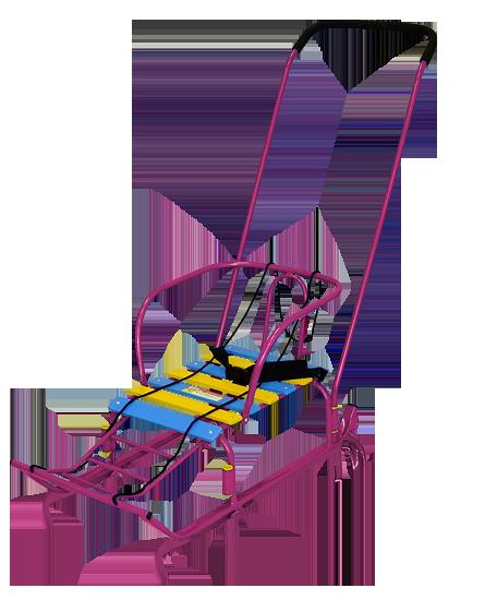 Санки для детей Тимка 5 Комфорт (с колесом).  Код 2105.