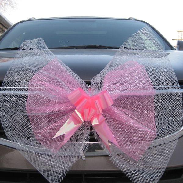 Свадебный бант из фатина на машину своими руками