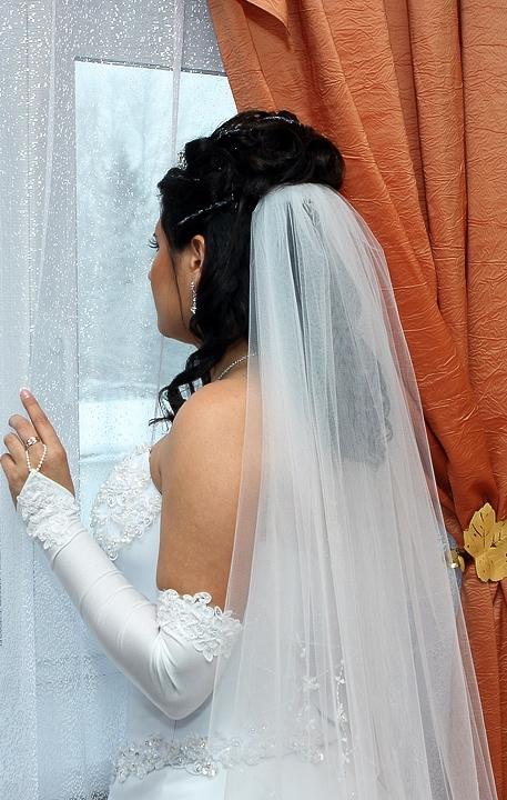 Фото девушек в свадебных платьях со спины